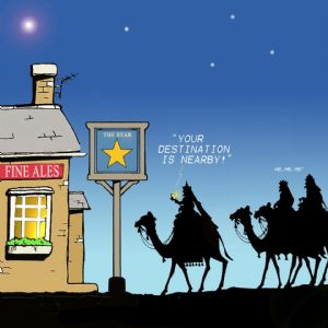 TW167 – Funny Xmas Card Different Kind of Star